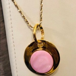 Joan Rivers Jewelry - JOAN RIVERS Gold Tone and Pink Pendant Necklace